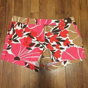 Jcrew flower shorts size 10